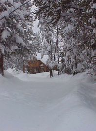 Fraser cabin rental - This is one of the reasons you need four-wheel drive in the winter -- much snow