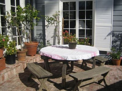 Back patio picnic table