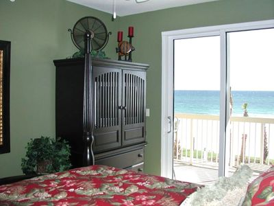 Look at the beautiful view of the ocean from your King master bedroom!