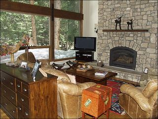 Vail townhome photo - Great Living Room with Fantastic Views Overlooking the River