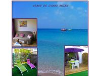 T2 80 meters from the beach of Anse Mitan with garden and private parking WIFI