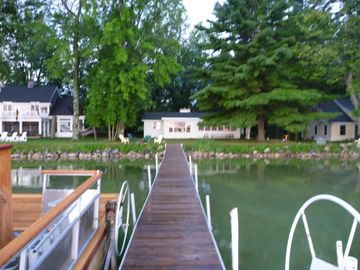 the dock toward cottage