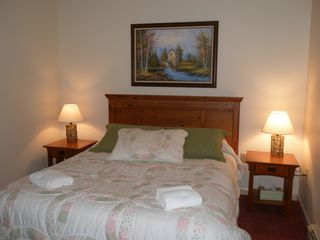 North Conway condo photo - Queen bedroom with mountain view located on 2nd floor