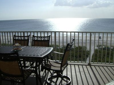 Beautiful  Direct unobstructed Gulf of Mexico View off of Condo's Balcony