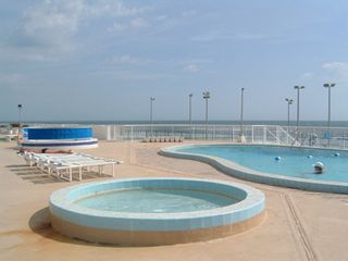 Daytona Beach condo photo - Oceanfront Swimming Pool, Kiddie Pool and Hot Tub