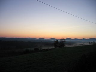 Montpelier house photo - Sunrise from Templeton Road Oct. 2011