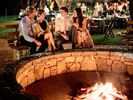 Us around the fire pit at our niece's wedding.
