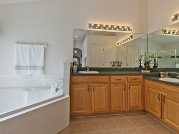 Bathroom with vanity units