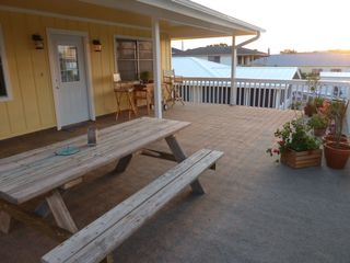 Rockport house photo - Picnic table on Harborside porch