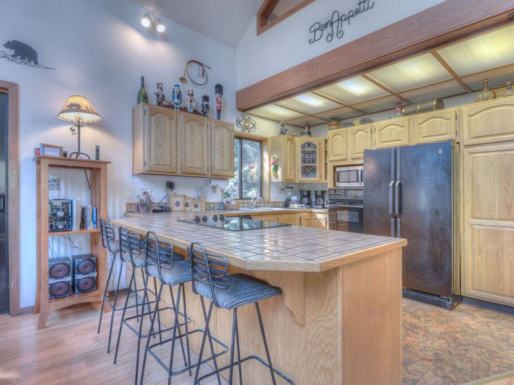 Open kitchen with all the amenities of home.