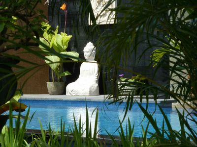 Welcome to Tree Frog Villa. Buddha symbol of good luck