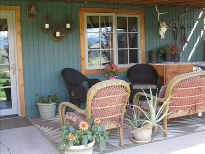 Relax on your patio great for conversation,enjoying nature, birds, and the views