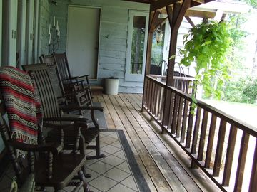 Kitchen porch with ample seating