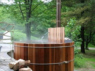Huntington house photo - Wood Fired Hot Tub Is The Ultimate in Relaxation!