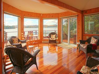 Val-Des-Lacs house photo - Sunroom with view of lake.