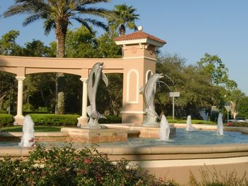 Dolphin fountains