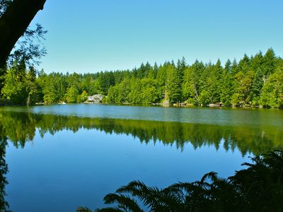 Olympia house rental - Gorgeous views on 7.7 acres of forest and waterfront - very private and peaceful