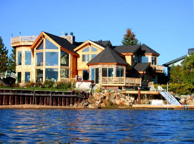 Custom lakefront lodge 5 br 5 ba 2 hottubs vrbo Rent a cabin in lake tahoe ca