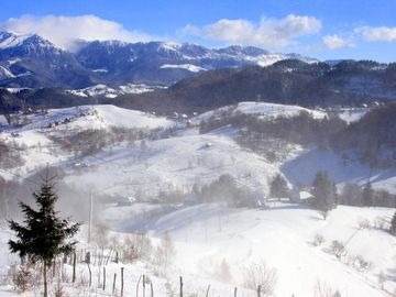 View from the chalet in winter