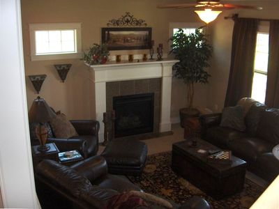 View ~ Comfortable Living Room with Gas Fireplace