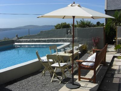 Bantry Bay cottage rental - The Pool with sea views