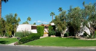 Indian Wells house photo - View from the south -- very lush, green with malaluca trees.