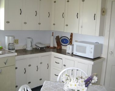 Charmingly original cottage kitchen with a few modern amenities.