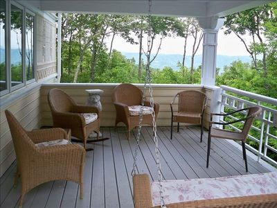 Upper Porch with long view!