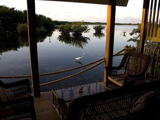 Marathon villa photo - Sunrise on patio overlooking Nature Refuge