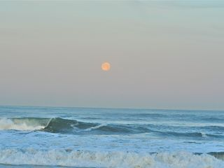 Mission Beach condo photo - Moon setting over the ocean