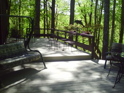 Brevard house rental - enjoy the woods from the top deck