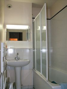 Bathroom with full size bath