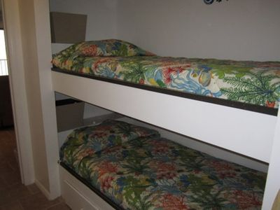 Bunkbeds in hall area.