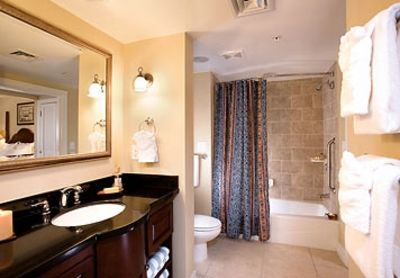 Guest bath with fine hotel touches and room for all