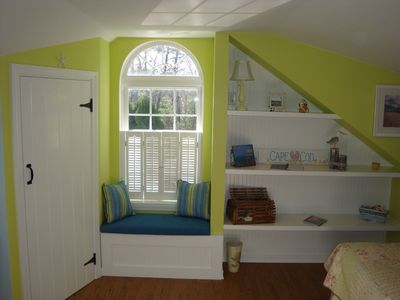 Front of Studio with walk-in closet & window seat