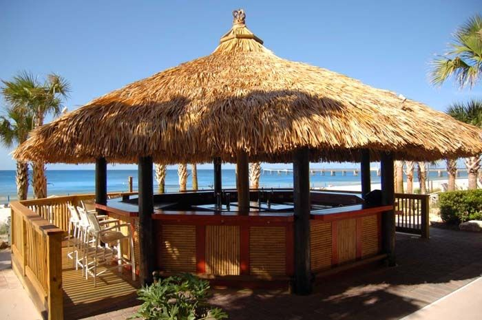 Tiki bar beachfront between the two lagoon pools for Beach bar ideas