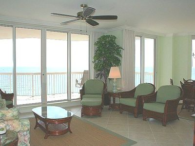 Spacious Great Room, Floor to Ceiling Gulf Views!
