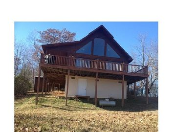 Andrews chalet rental - Our 2 story, cedar sided chalet with wrap around deck