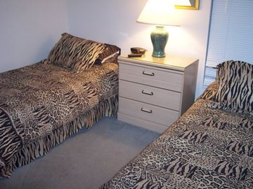 Bedroom #4 has two Twin Beds, playstation w/games, DVD player