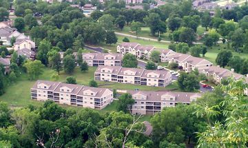 A view from Scenic Overlook of Pointe Royale Condos. Unit is located bottom left