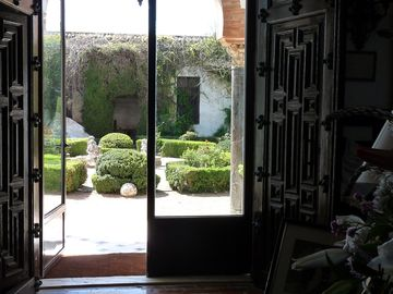 Enjoy the beautiful garden view from the hall