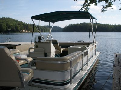 24 ft Hurricane deck boat (main boat)