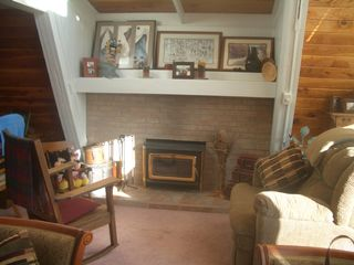 Ruidoso chalet photo - Wood Burning Fireplace With Insert