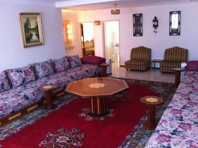 Tangier apartment rental - Reception- Sofas wide enough for beds