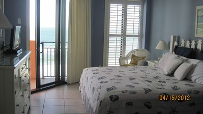 Master Bedroom adjacent to the balcony and on the beach side of the Center Tower