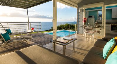 Caribbean Sea oceanfront villa with private pool and ocean access - Blue Haven Villas