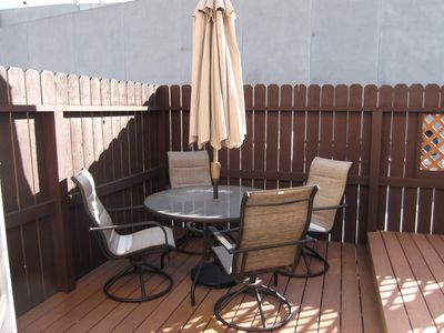 Table seating on Private Deck