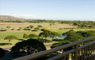 Master bedroom view from lanai: sunrise / golf course / lake / mountain