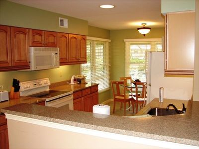 Granite countertops, dishwasher, micro, a fully equipped beautiful kitchen.
