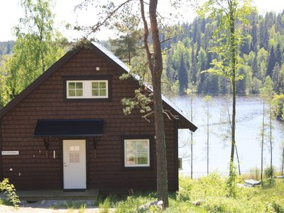 Fresh house with lovely lake view, incl. boat at the private dock